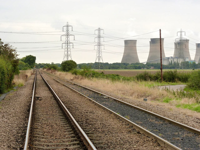 The line to Cottam Power Station