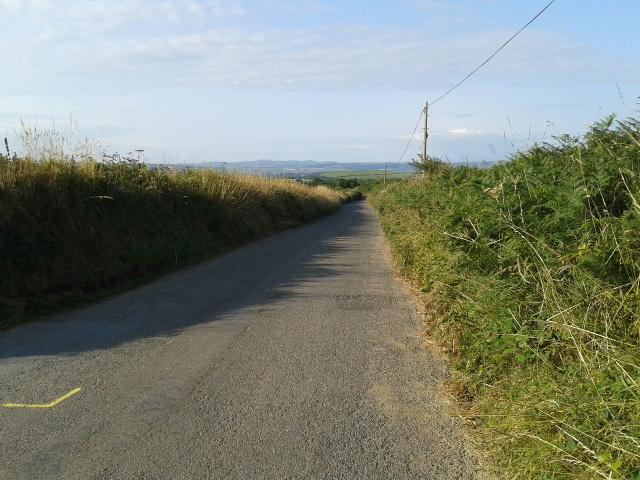 Road heading to Trelill