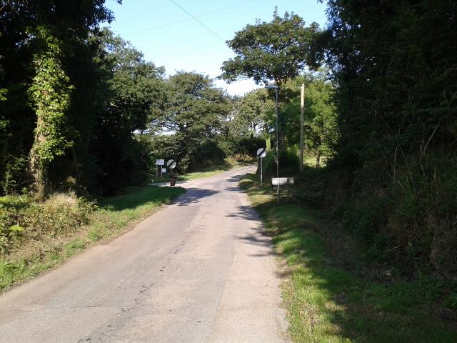 Road leaving Treroosel heading west