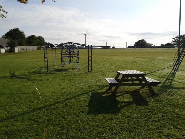 Play park and wind turbine