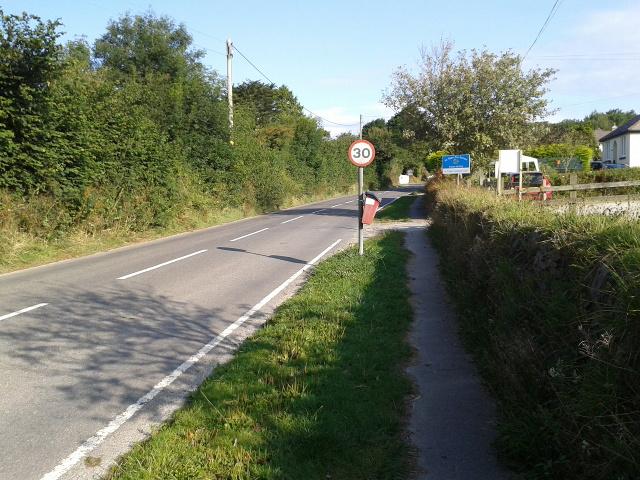 Road passing St Treath Pre-School