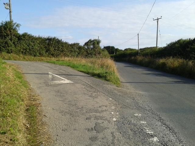 B3267 heading north and Gyspy Lane turning left