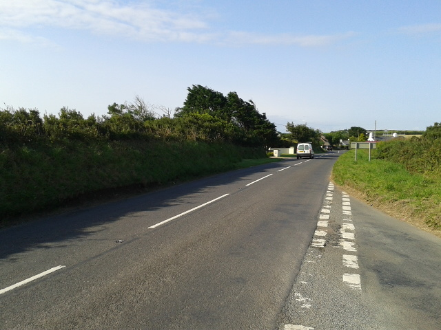 The B3314 heading south-west