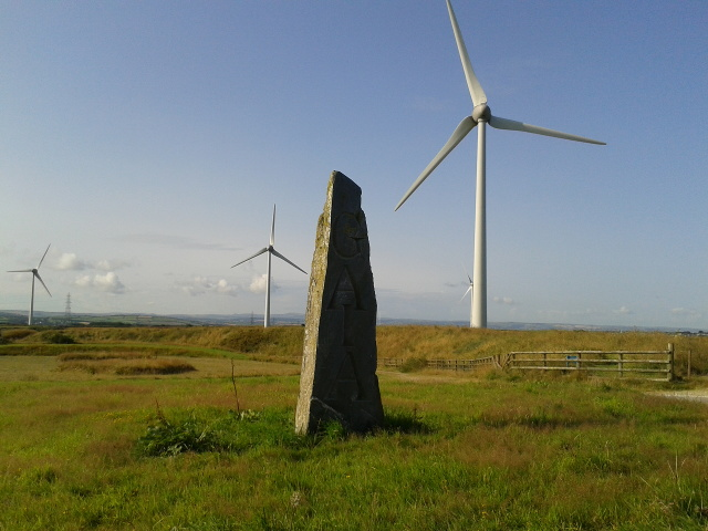 Wind turbines near Delabole