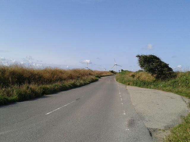 Lane and wind turbines