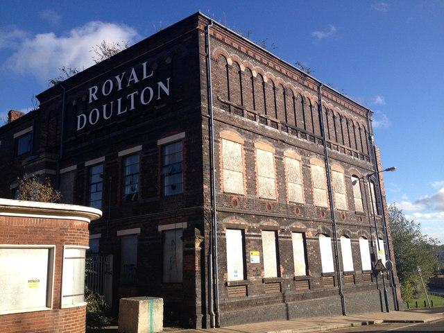 Derelict Royal Doulton works on Nile Street, Burslem