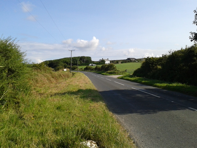 The B3266 heading for Boscastle