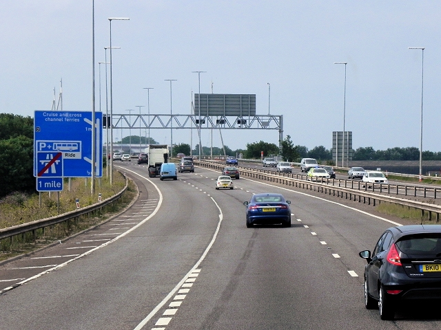 Approaching Portsmouth via the M275