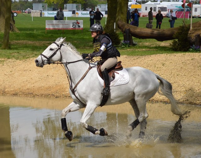 Rockingham Castle Horse Trials: water complex on the cross-country course
