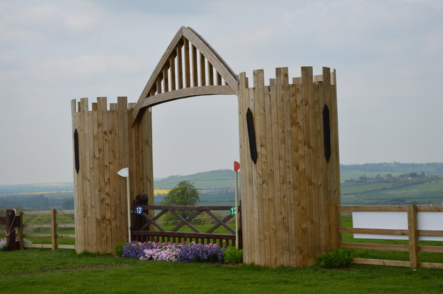 Rockingham Castle Horse Trials: 'Rockingham Gate' obstacle on the cross-country
