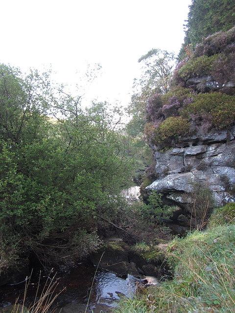 Crags along Bells Burn near Spout Linn