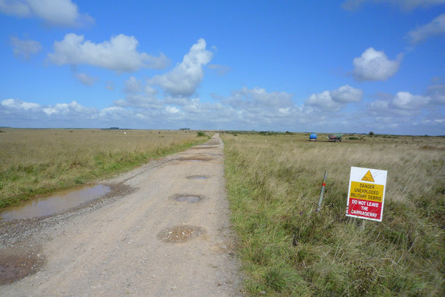 Road through Westdown/ Larkhill Artillery ranges