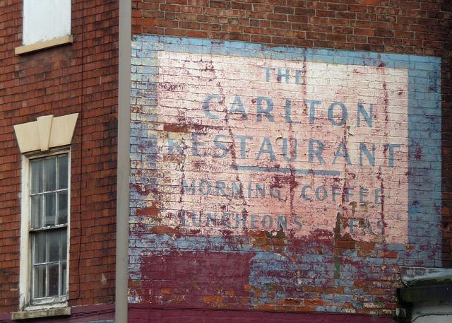 Ghost sign, Lombard Street, Newark-on-Trent