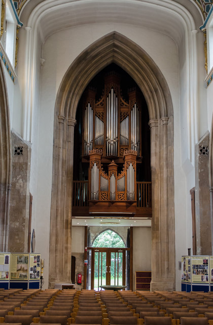 Nave Organ and tower arch, Chelmsford Cathedral