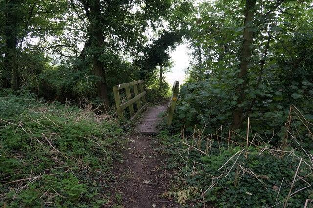 Footbridge to the rear of St Helen's Church