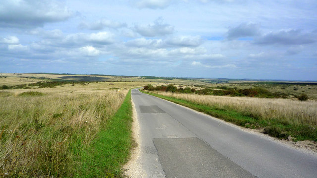 Road down to Imber in Summer Down area