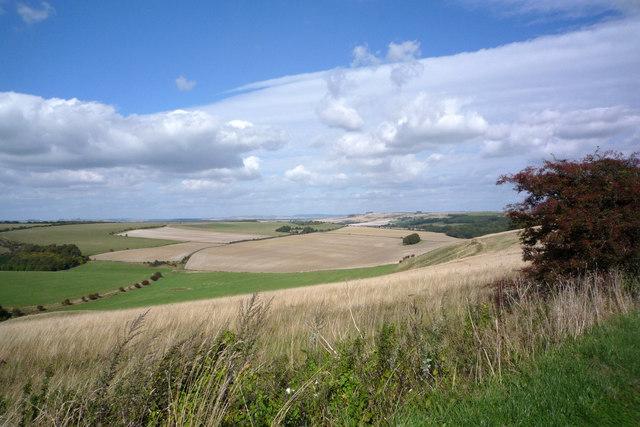 Imber Range Perimeter Path view