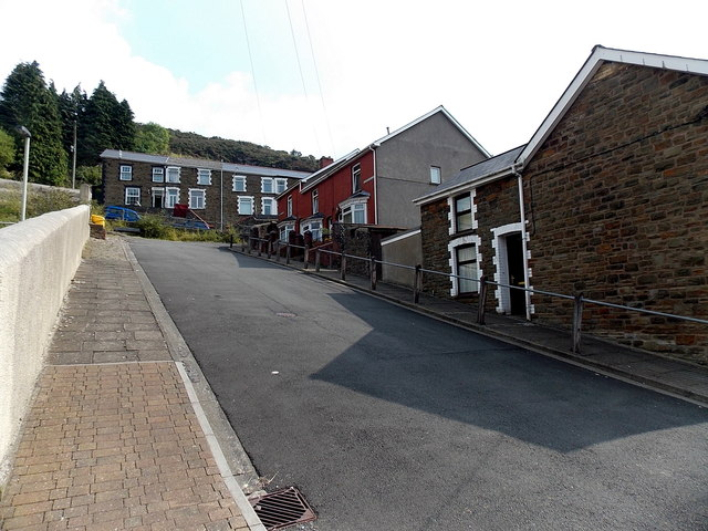 Unnamed street up to Nantyrychain Terrace, Pontycymer