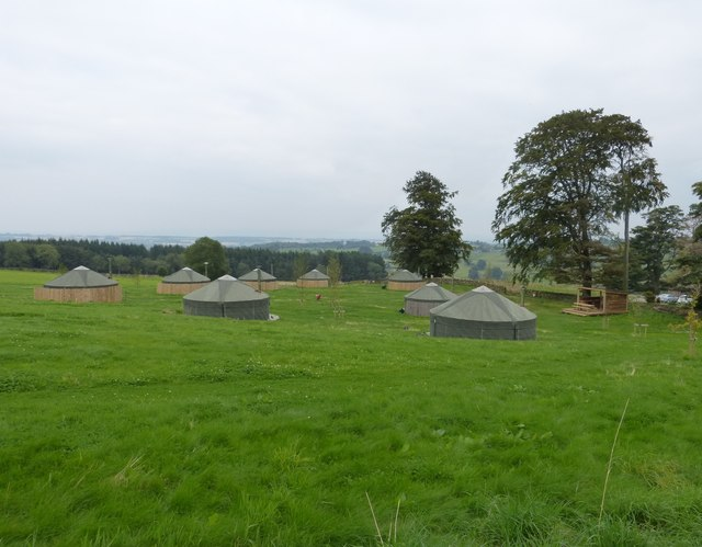 Yurts, for 'Posh Camping'