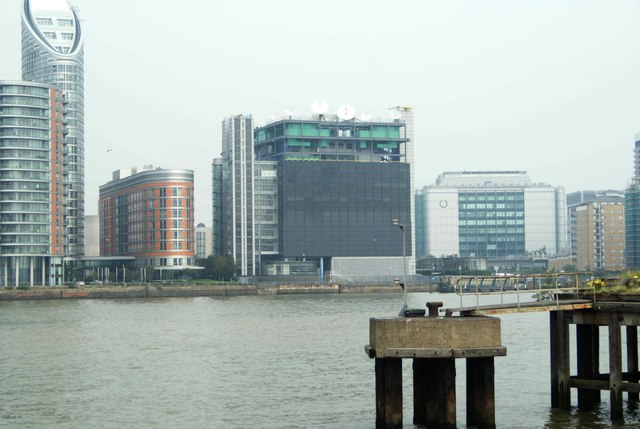 View of the Thomson-Reuters building from Greenwich Peninsula