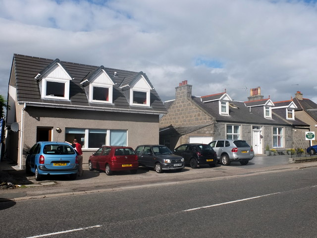 Vet (left) and guest house (right), Victoria Street, Dyce
