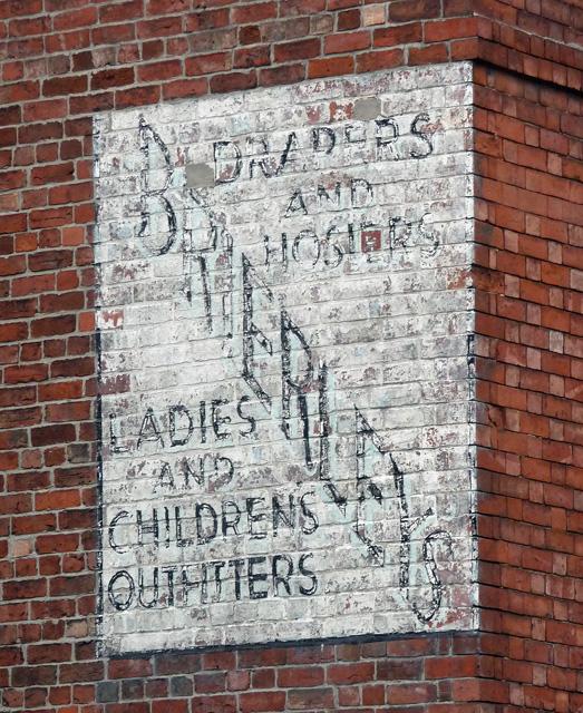Ghost sign, Albert Street, Newark-on-Trent