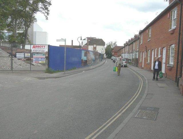 Looking southwest along St Peter's Lane