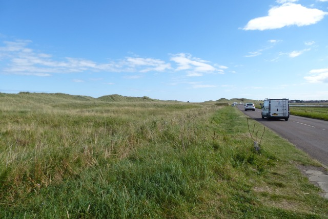 Bamburgh to Seahouses road