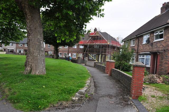 Bridgend : Llangewydd Road Houses