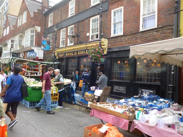 Croydon:  The 'Dog and Bull', Surrey Street