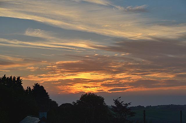 September sunset from Pisgah