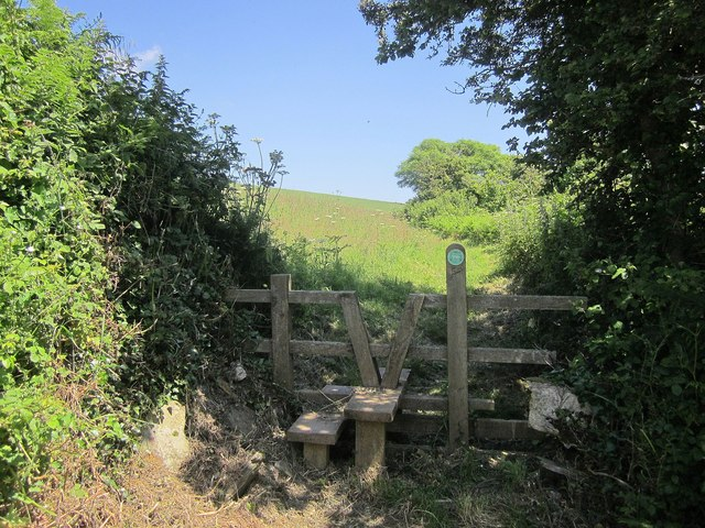 Stile above Frogmore Creek