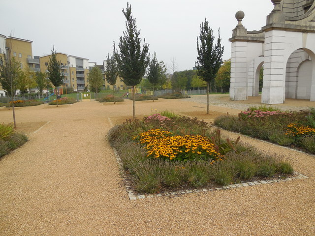 Flowerbed in Caledonian Park
