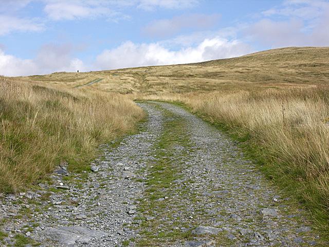 Track heading for Llyn Llygad Rheidol
