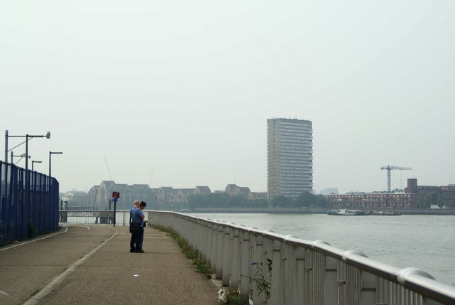 View of Kelson House from Greenwich Peninsula