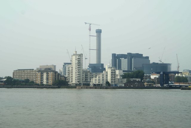 View of Baltimore Tower from Greenwich Peninsula #2