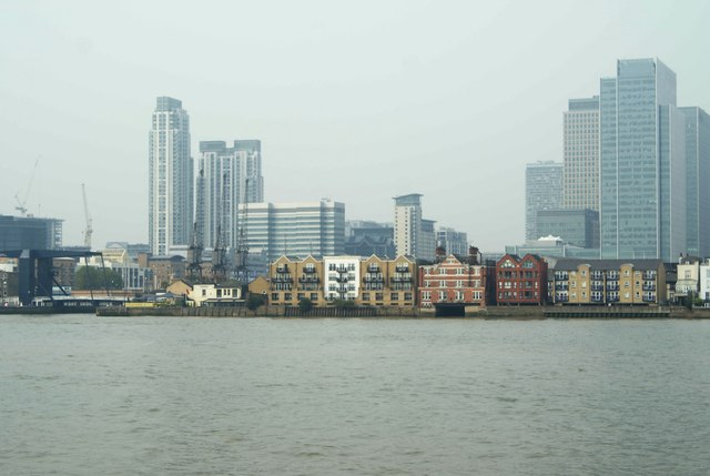 View of Canary Wharf from the Greenwich Peninsula #2