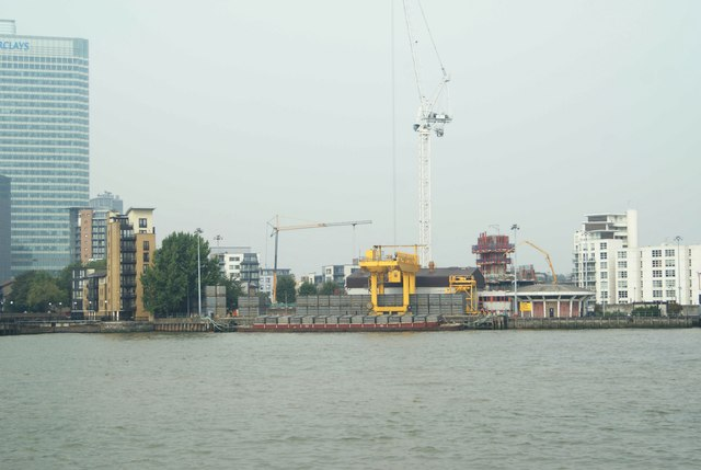 View of Northumberland Wharf from Greenwich Peninsula
