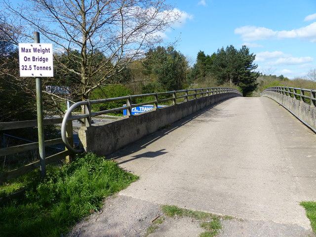 Bridge across the M1 motorway