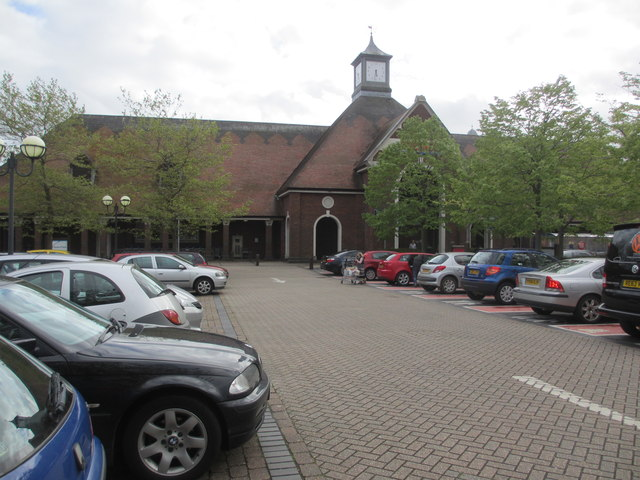 Tescos with clock tower