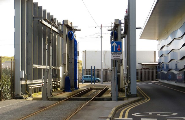 The tram wash at Starr Gate