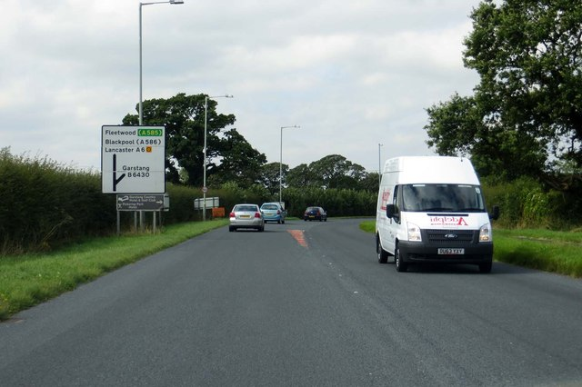 The A6 at Catterall