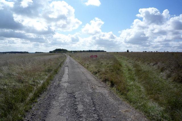 Old Turnpike road across Westdown/Larkhill Impact area