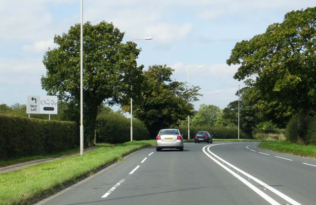 The A6 heading to Lancaster