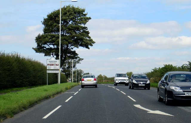 The A6 runs past Garstang
