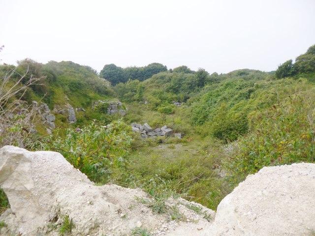 Easton, disused quarry