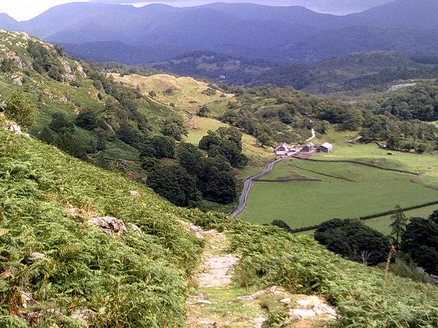 View towards High Tilberthwaite