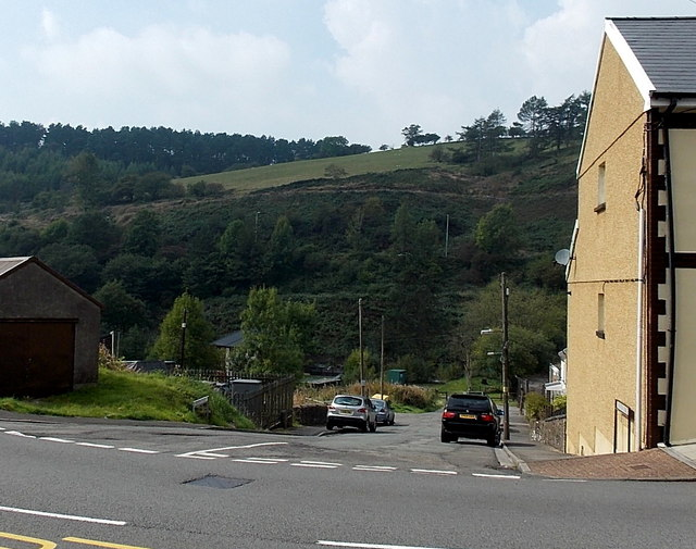 Hillside view from the southern edge of Pontycymer