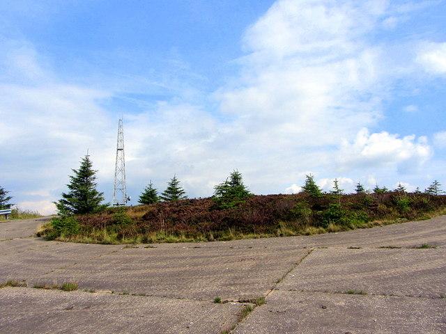 Concrete 'roundabout' at Larriston Fells Mast
