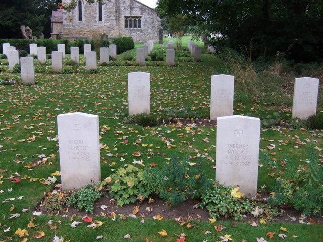 German war graves, St.John the Baptist's Church, Scampton